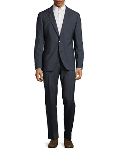 Hugo Jeffery Simmons Classic Wool Suit-NAVY-48