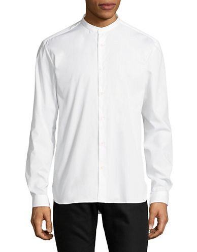 Hugo Eddison Cotton Sportshirt-WHITE-Large