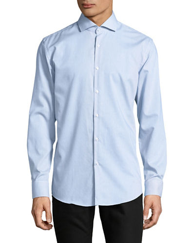 Hugo Jason Cotton Sportshirt-BLUE-EU 42/US 16.5