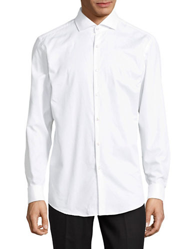 Hugo Jales Cotton Sportshirt-WHITE-EU 43/US 17