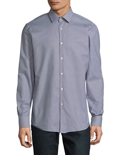 Hugo Jenno Cotton Sport Shirt-BLUE-EU 43/US 17