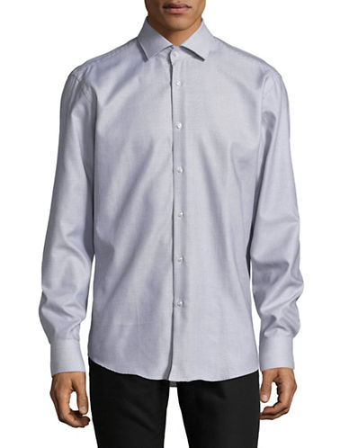 Hugo Regular-Fit Cotton Sport Shirt-BLUE-EU 38/US 15