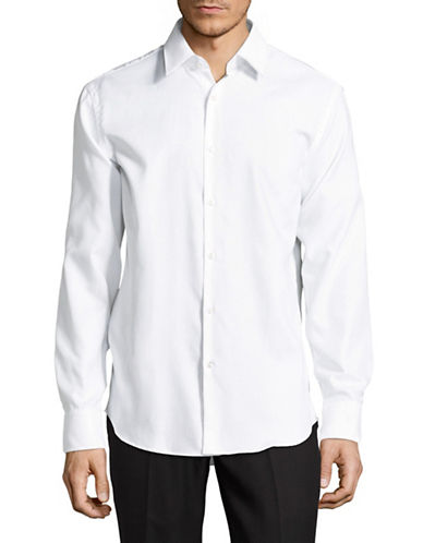 Hugo Enzo Cotton Sportshirt-WHITE-EU 43/US 17