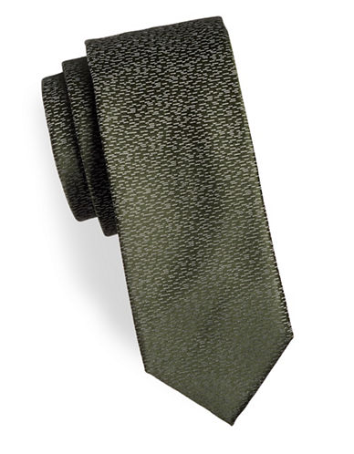 Hugo Speckled Silk Tie-GREEN-One Size