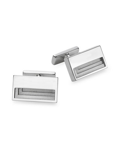 Hugo Stairs Cufflinks-SILVER-One Size