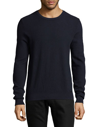 Hugo Sedeeron Cotton Sweater-BLUE-Small