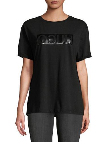 Hugo Denalisa Logo Tee-BLACK-Medium 89849863_BLACK_Medium