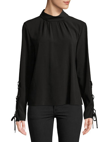 Hugo Lace-Up Sleeve Top-BLACK-EUR 34/US 2