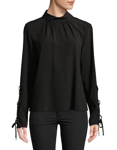 Hugo Lace-Up Sleeve Top-BLACK-EUR 42/US 10