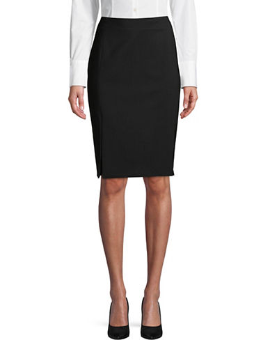 Hugo Raija Wool-Blend Pencil Skirt-BLACK-EUR 40/US 8