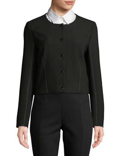 Hugo Aureny Collarless Jacket-BLACK-EUR 36/US 4