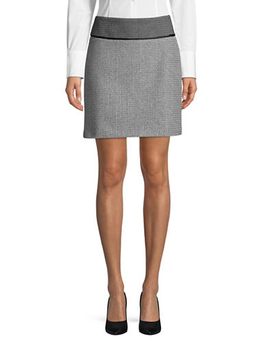 Hugo Romis Tweed Skirt-MULTI-EUR 46/US 14