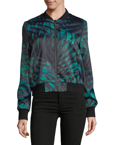 Hugo Amikas Printed Bomber Jacket-GREEN-EUR 32/US 0