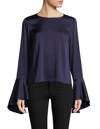 Hugo Bell Sleeve Blouse-NAVY-EUR 38/US 6
