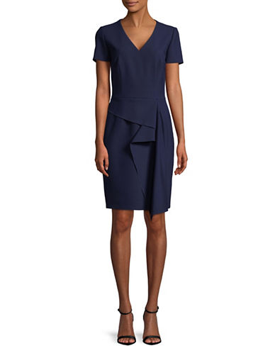 Hugo Kibelli Ruffle Front Dress-NAVY-EUR 38/US 6