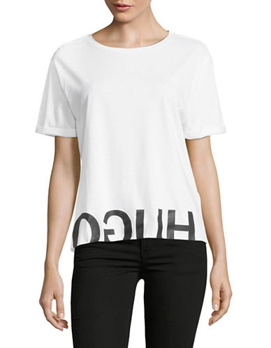 Hugo Dennasi Cotton Jersey Tee-WHITE-X-Small 89834414_WHITE_X-Small