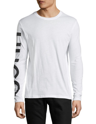 Hugo Demeos Long Sleeve Cotton T-Shirt-WHITE-Small 90023028_WHITE_Small
