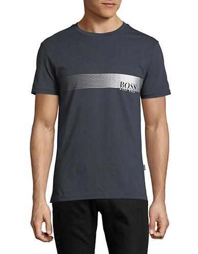 Boss Logo Cotton T-Shirt-DARK GREY-Large 89788317_DARK GREY_Large