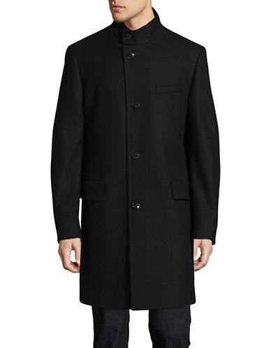 Hugo C-Sintrax Striped Wool-Blend Overcoat-NAVY-42