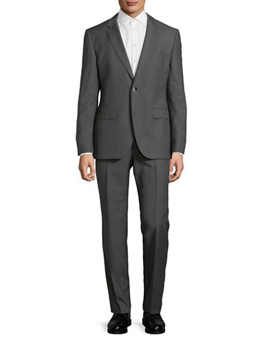 Hugo Classic Wool Suit-GREY-40 Short