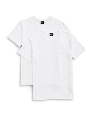 Boss Two-Pack Cotton Stretch T-Shirts-WHITE-Medium