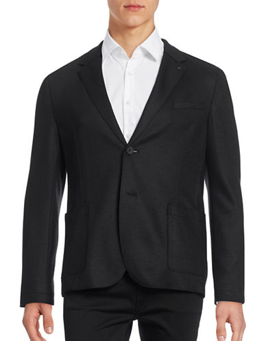 Hugo Alento Wool-Blend Sports Jacket-BLACK-46