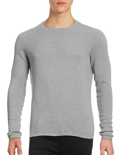 Boss Orange Kusvet Slim Fit Knit Sweater-GREY-Large 88824749_GREY_Large
