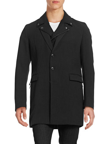 Boss Orange Bassam Jacket with Moto Gilet-BLACK-38