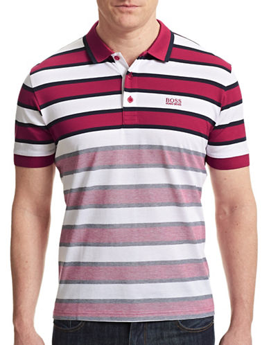 Boss Green Striped Cotton Piqué Polo-RED-Small 87359744_RED_Small