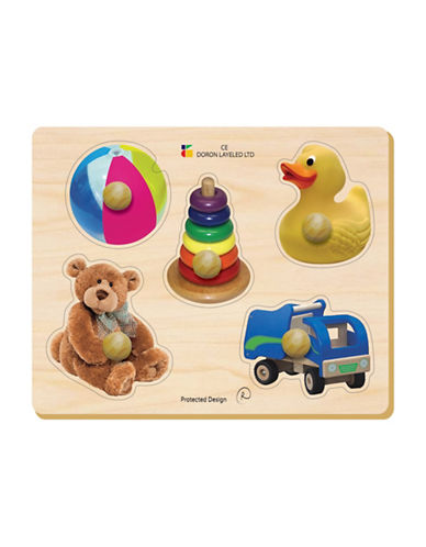 Edushape Toy Large Knob Puzzle-MULTI-One Size