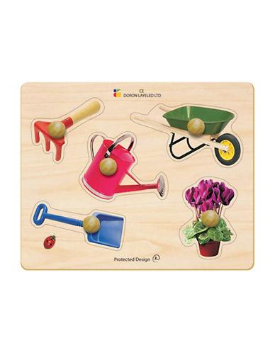 Edushape Garden Tools Large Knob Puzzle-MULTI-One Size