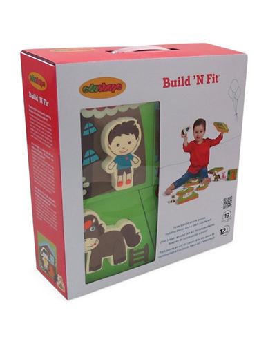 Edushape Build N Fit Puzzle Set-GREY-One Size