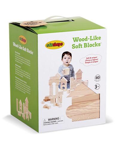 Edushape 80-Piece Wood-Like Soft Block Set-BEIGE-One Size