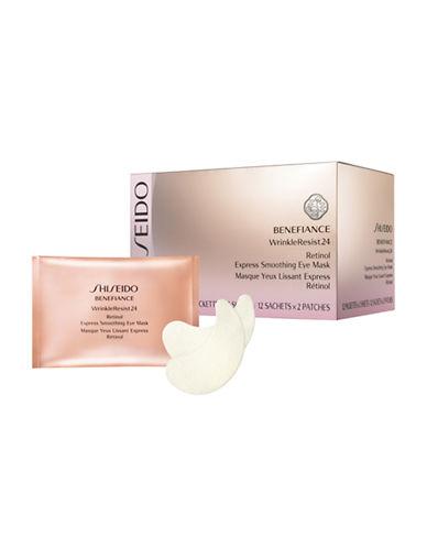 Shiseido Benefiance WrinkleResist24 Retinol Express Smoothing Eye Mask-NO COLOUR-One Size