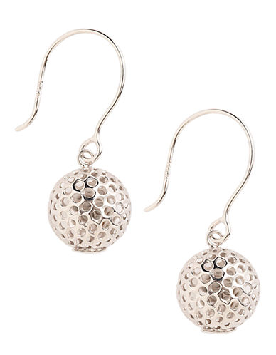 Fine Jewellery 14K White Gold Ball Drop Earrings-WHITE GOLD-One Size