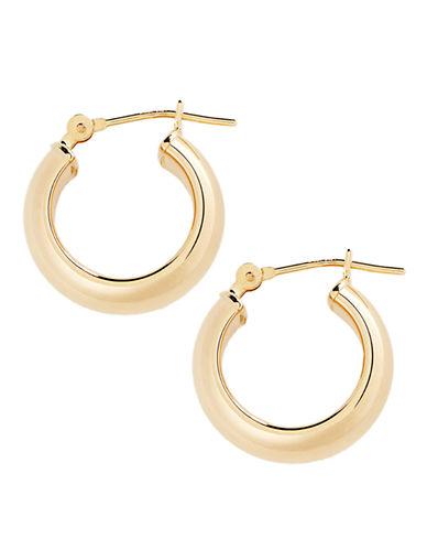 Fine Jewellery 14K Yellow Gold Hoop Earrings-YELLOW GOLD-One Size