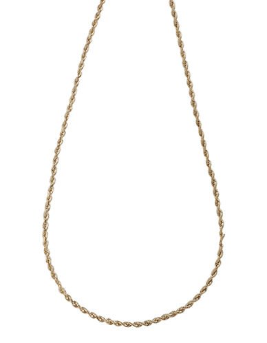 Fine Jewellery 14K White Gold Seamless Rope Necklace-WHITE GOLD-One Size