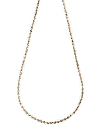 Fine Jewellery 14K Yellow Gold Seamless Rope Necklace-YELLOW GOLD-One Size