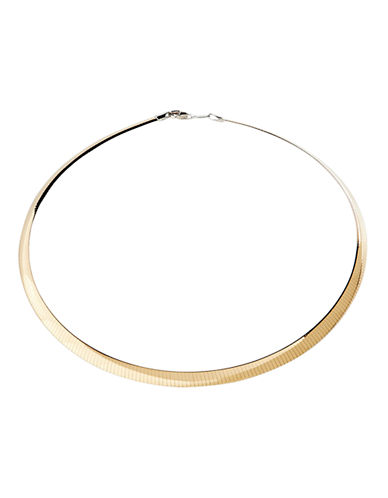 Fine Jewellery Sterling Silver And 14K Yellow Gold Light Reversible Avolto Necklace-TWO TONE COLOUR-One Size