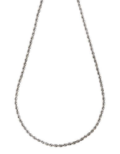 Fine Jewellery 14K White Gold Seamless Rope Chain-WHITE GOLD-One Size