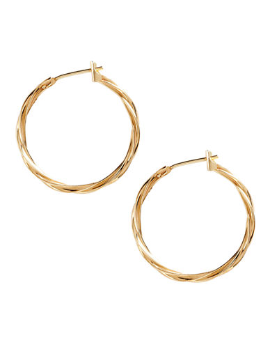 Fine Jewellery 14K Yellow Gold Hoop Earrings-YELLOW GOLD-One Size