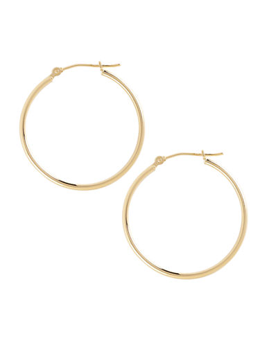 Fine Jewellery 14K Yellow Gold And Sterling Silver Polished Hoop Earrings-AURAGENTO (SILVER/GOLD)-One Size