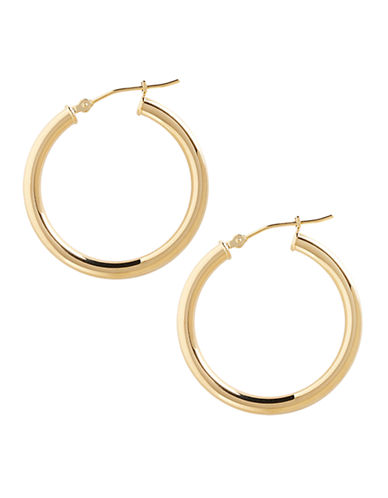 Fine Jewellery 14K Yellow Gold Polished Hoop Earrings-YELLOW GOLD-One Size