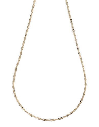 Fine Jewellery 14K Yellow Gold Singapore Chain-YELLOW GOLD-One Size