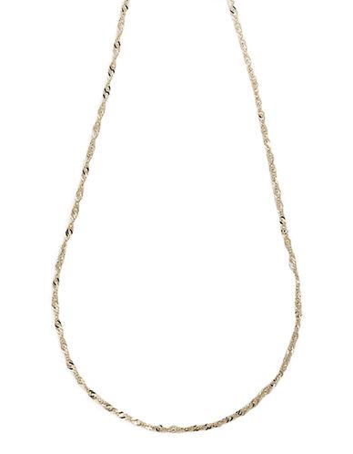 Fine Jewellery 14K Yellow Gold Singapore Chain-YELLOW GOLD-One Size