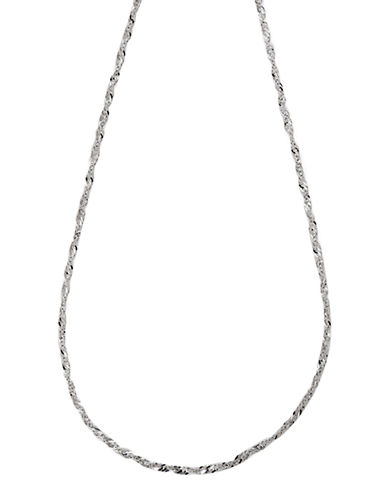Fine Jewellery 14K White Gold Singapore Chain-WHITE GOLD-One Size