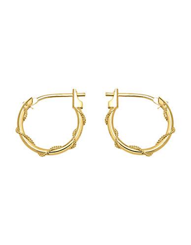 Fine Jewellery 14K Gold Wrap Hoop Earrings-GOLD-One Size