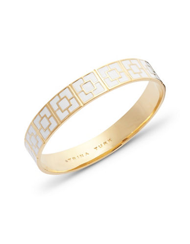 Trina Turk Palm Springs Block Bangle-WHITE-One Size
