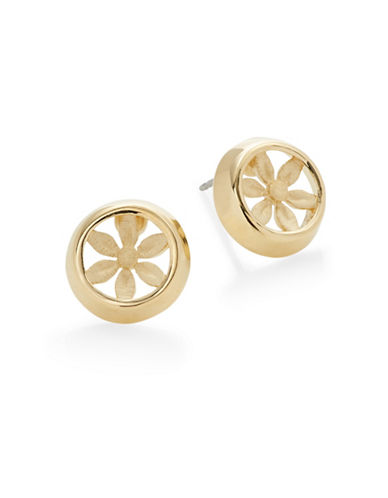 Trina Turk Openwork Floral Stud Earrings-GOLD-One Size