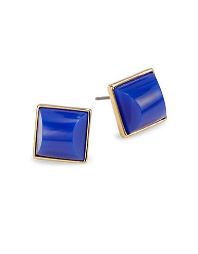 Trina Turk Square Cabochon Stud Earrings-BLUE-One Size